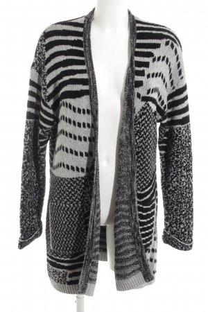 Cecil Knitted Coat black-white graphic pattern casual look