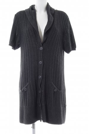 Cecil Knitted Coat black cable stitch casual look