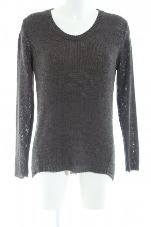 Cecil Strickpullover hellgrau Zopfmuster Casual-Look