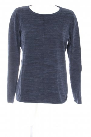 Cecil Strickpullover dunkelblau meliert Casual-Look