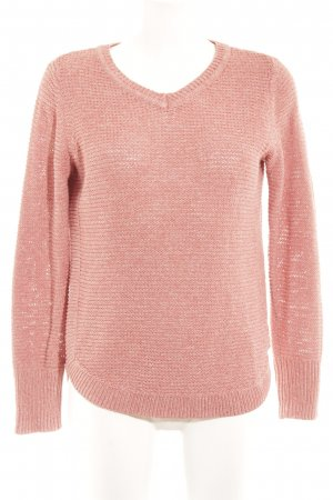 Cecil Strickpullover lachs Lochstrickmuster Casual-Look