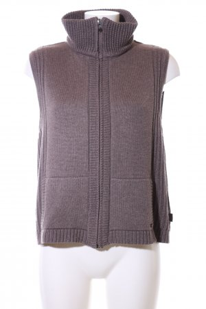 Cecil Strickweste lila Casual-Look
