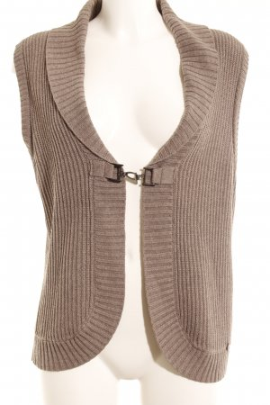 Cecil Knitted Vest light brown cable stitch casual look