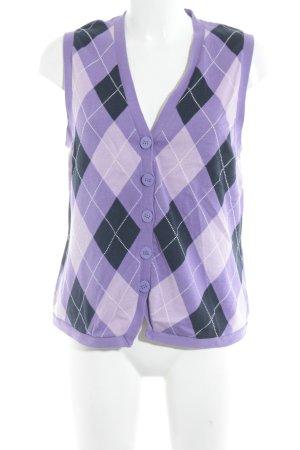 Cecil Gebreid vest geruite print extravagante stijl