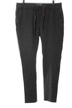 Cecil Pantalone fitness nero motivo a righe stile professionale