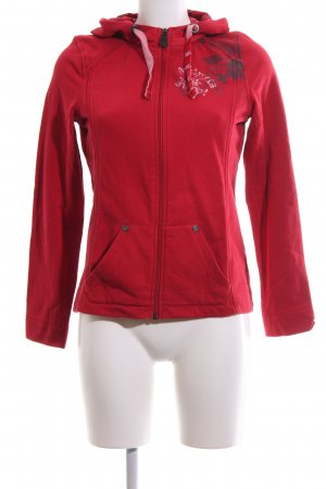 Cecil Sweat Jacket red themed print casual look