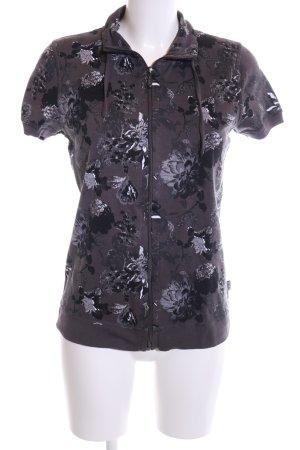 Cecil Sweat Jacket flower pattern casual look