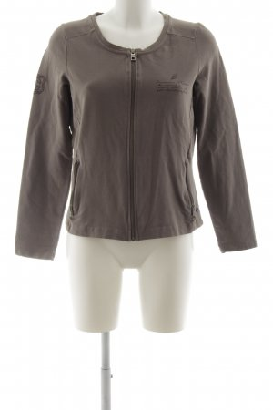 Cecil Sweat Jacket grey brown casual look