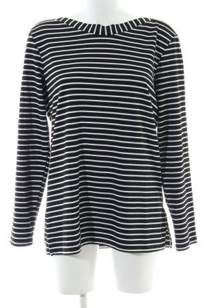 Cecil Sweatshirt schwarz-weiß Streifenmuster Casual-Look