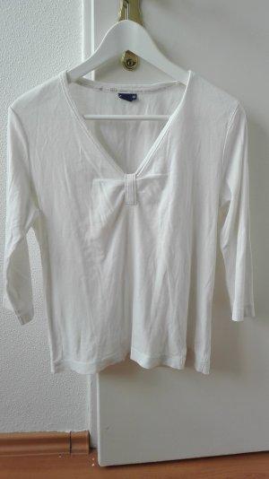Cecil Sweatshirt Basic M 38 weiß 3/4 Arm Ärmel