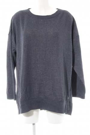 Cecil Sweatshirt dunkelblau-weiß Nadelstreifen Casual-Look