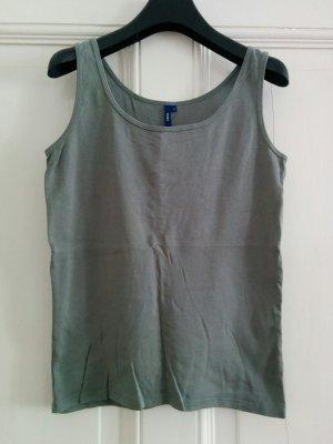 Cecil Tanktop Top Armfrei Shirt Khaki Basic Gr. S NEU