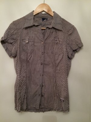 Cecil Folkloristische blouse wit-donkerbruin
