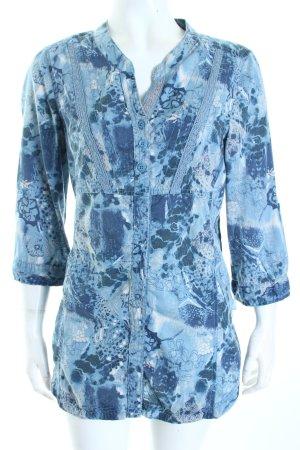 Cecil Tunikabluse dunkelblau-himmelblau florales Muster Street-Fashion-Look