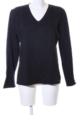 Cecil V-Ausschnitt-Pullover schwarz Casual-Look