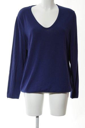 Cecil V-Ausschnitt-Pullover blau Casual-Look