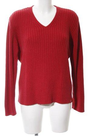 Cecil V-Ausschnitt-Pullover rot Casual-Look