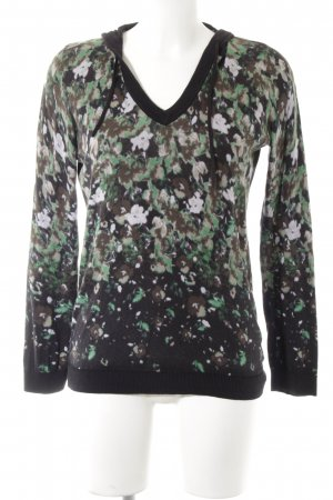 Cecil V-Ausschnitt-Pullover florales Muster Casual-Look