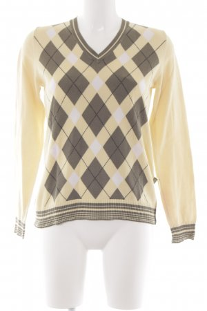 Cecil V-Ausschnitt-Pullover grafisches Muster Casual-Look