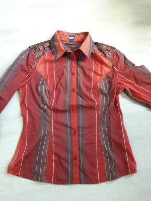 Cecile: rot weiss gestreifte Bluse S mit 2 Ersatzknöpfen