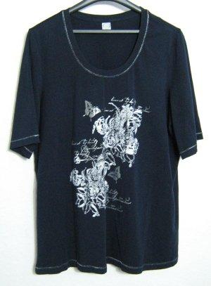 Cecilia Classics Camiseta estampada azul-color plata Algodón