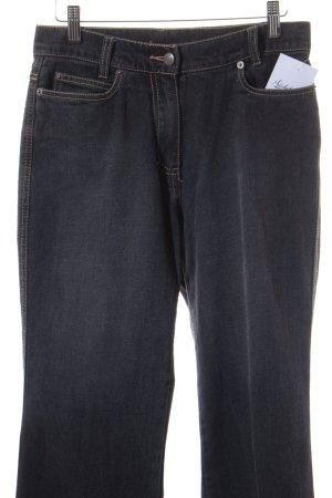 Cecilia Classics Straight-Leg Jeans dunkelgrau-anthrazit Casual-Look