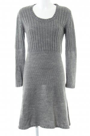 Cecilia Classics Knitted Dress light grey casual look