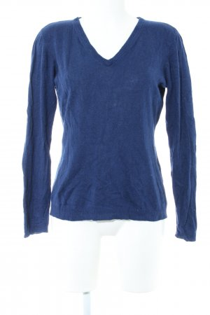 Cecilia Classics V-Neck Sweater blue casual look