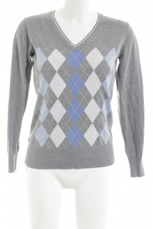 Cecilia Classics V-Neck Sweater abstract pattern casual look
