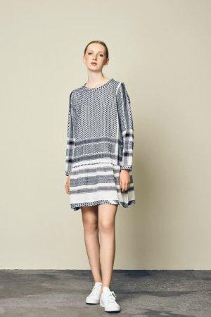 Robe courte multicolore coton