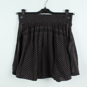 Flared Skirt black-bronze-colored cotton