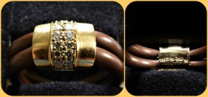 Gold Ring multicolored mixture fibre