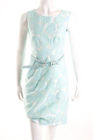 Cedress Etuikleid mint Blumenmuster Eleganz-Look