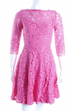 Cedress Spitzenkleid magenta Romantik-Look