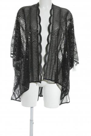 Cejon Blusa tipo kimono negro elegante