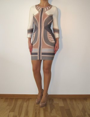 Celebboutique House of CB Kleid Bodycon Abendkleid Bandage w NEU XS Weiß Nude