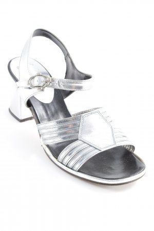 Celina Comfort Sandals light grey '50s style