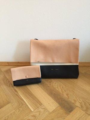 Céline All Soft Handtasche in Schwarz/Weiß/Nude - 100% Original