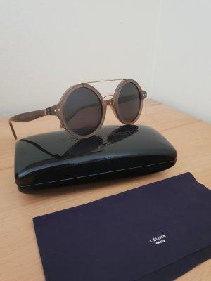 CELINE angesagte runde Doppelstegbrille braun gold NEU