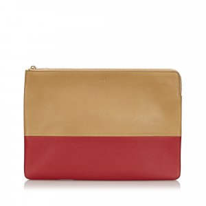 Celine Bicolor Leather Clutch Bag