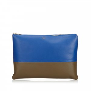 Celine Bicolor Leather Pouch
