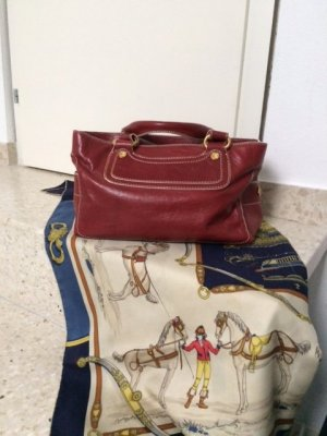 Céline Boogie Bag in rot