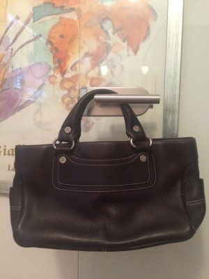 Celine Carry Bag dark brown