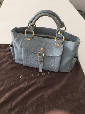 Celine Boogie Bag Tasche hellblau Leder