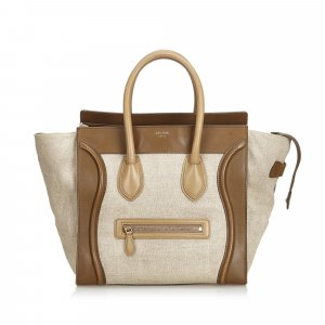 Celine Canvas Luggage Tote Bag