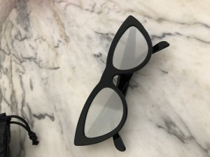 Celine Cat Eye Sunglasses MIRROR ACETATE CAT EYE SUNGLASSES Schwarz verspiegelt