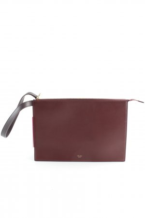 "Celine Clutch ""Dragonne Ring Clutch Smooth Calfskin Burgundy"" bordeauxrot"