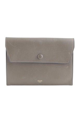 Celine Clutch graubraun schlichter Stil