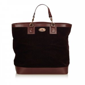 Celine Corduroy Tote Bag