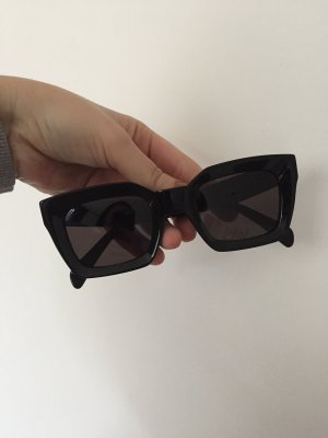 Celine Angular Shaped Sunglasses black acetate